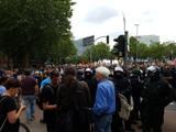 Ströbele auf Großdemo gegen G20 und Besuch Schanzenviertel