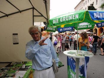 Hans-Christian Ströbele auf dem Bergmannstraßenfest