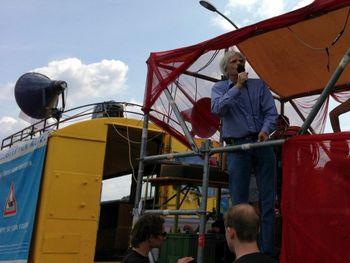 Hans-Christian auf der Megaspree-Demonstration am 13. Juli 2013