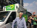 Hans-Christian auf der Hanfparade 2013