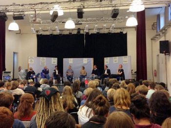 Podiumsdiskussion am Dathe-Gymnasium