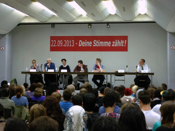 Diskussion am OSZ Handel