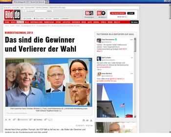 Ströbele in der Bundestagswahl 2013 - Kleine Wahlauswertung