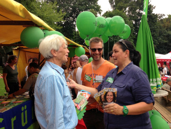 Auf dem schwul-lesbischen Parkfest