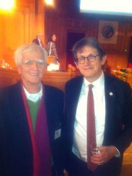 Hans-Christian mit Preisträger Alan Rusbridger