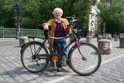 Hans-Christian mit seinem Fahrrad