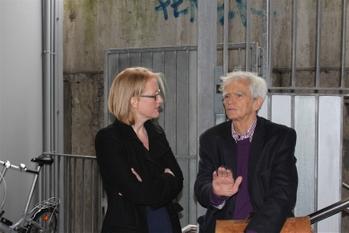 Hans-Christian im Gespräch mit Lisa Paus (MdB) auf BDK 2013